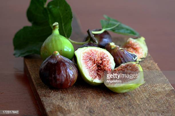 Figs still life picture in halves