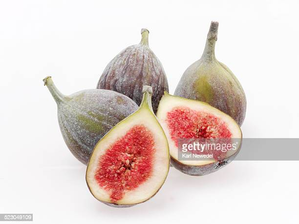 Figs, three whole and two halves