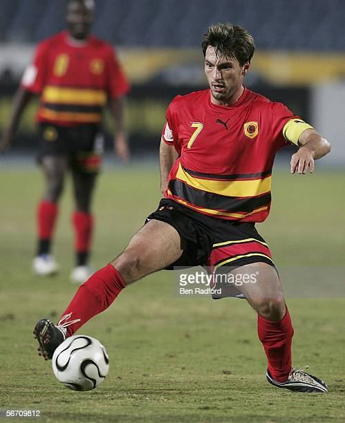 Figueiredo Paulo of Angola in action during The African Cup of Nations, Group B match between Angola and Togo at The Cairo International Stadium on...
