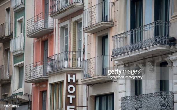 figueres facades - highlywood stock photos and pictures