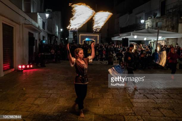 Figurants during the live show 'Borgo Infuocato' Festival In Cisternino Brindisi Italy on 20 October 2018 Cisternino hosted this great festival...