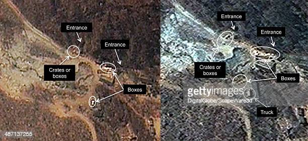 Figure 1 is DigitalGlobe Imagery of North Koreas Punggyeri Nuclear Test Site from April 23rd 2014 and April 25th 2014 showing significant activity at...