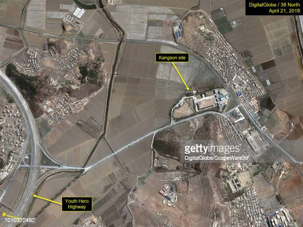 Figure 1 No security on highway turnoff or access road to the suspected Kangson uranium enrichment facility Mandatory credit for all images...