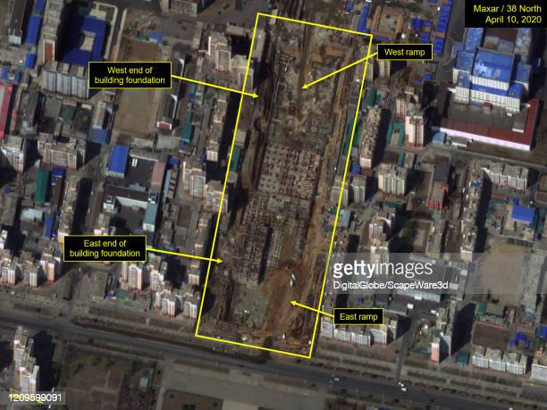 Figure 1 Overview of Pyongyang General Hospital construction site Please use Satellite image 2020 Maxar Technologies