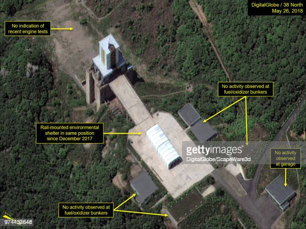 Figure 1 Sohae satellite launch facilitys vertical engine test stand Mandatory credit for all images DigitalGlobe/38 North via Getty Images