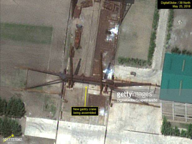 Figure 1A May activity near construction halls Mandatory credit for all images DigitalGlobe/38 North via Getty Images