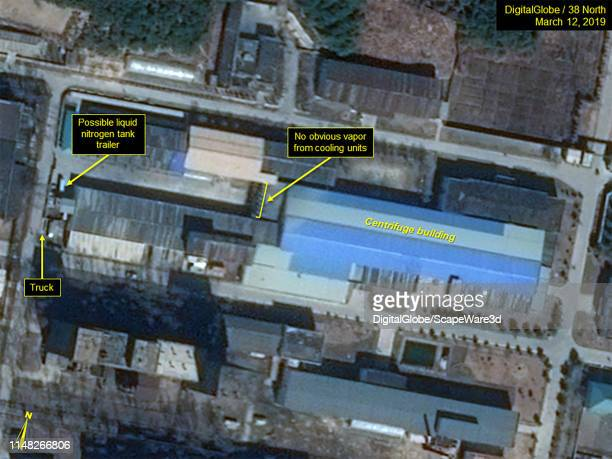 Figure 1A Movement of possible tanker trailer and groups of personnel observed from MarchMay around the Uranium Enrichment Complex Credit Maxar/38...