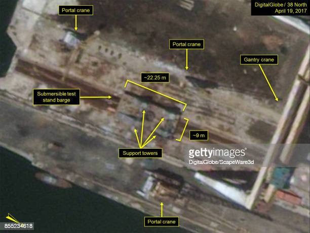 Figure 1A Submersible test stand barge observed in April 2017 Mandatory credit for all images DigitalGlobe/38 North via Getty Images
