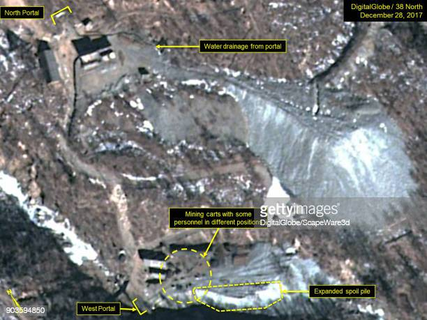 KOREA DECEMBER 28 2017 Figure 1b At North Koreas Punggyeri Nuclear Test Site the North Portal remains dormant with only water draining and the West...