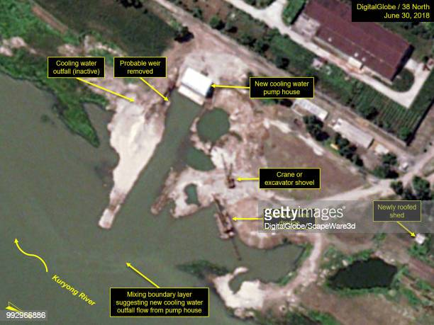 Figure 1B Modifications to the 5 MWe reactors secondary cooling system continued between June 21 and 30 Credit DigitalGlobe/38 North via Getty Images