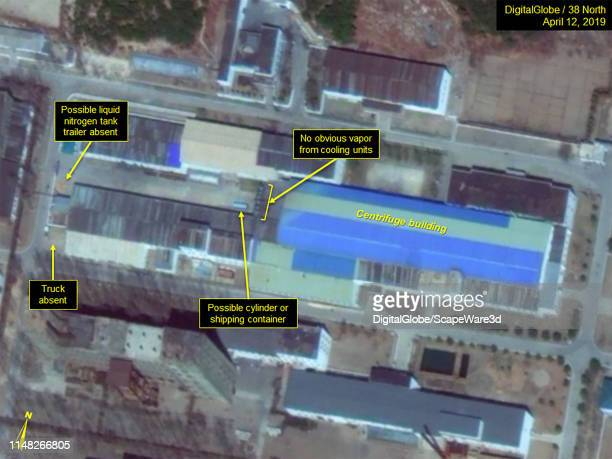 Figure 1B. Movement of possible tanker trailer and groups of personnel observed from March-May around the Uranium Enrichment Complex. Credit:...