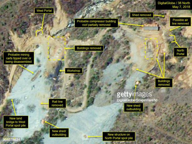 KOREA MAY 7 2018 Figure 1B Significant changes took place at the North and South Portals between April 20 and May 7 consistent with site closing