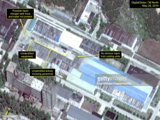 Figure 1D: Movement of possible tanker trailer and groups of personnel observed from March-May around the Uranium Enrichment Complex. Credit:...
