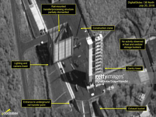 Figure 2 Closeup of the partially dismantled structure Mandatory credit for all images DigitalGlobe/38 North via Getty Images