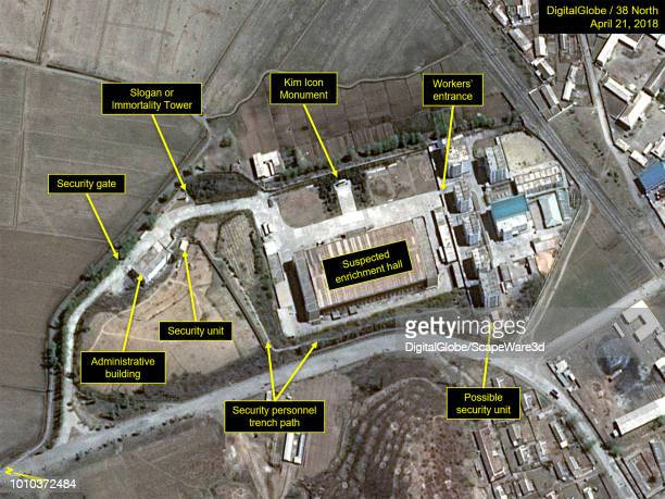 Figure 2 Security to enter the Kangson facility is typical of other North Korean industrial sites Mandatory credit for all images DigitalGlobe/38...