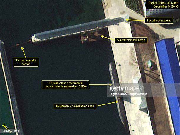 Figure 2 The GORAEclass submarine and test barge are docked in the secure boat basin Date December 9 2016 Mandatory credit for all images...