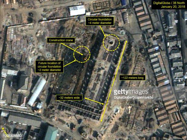 Figure 2A Closeup of the fabrication hall construction from JanuaryJune 2018 Mandatory credit for all images DigitalGlobe/38 North via Getty Images