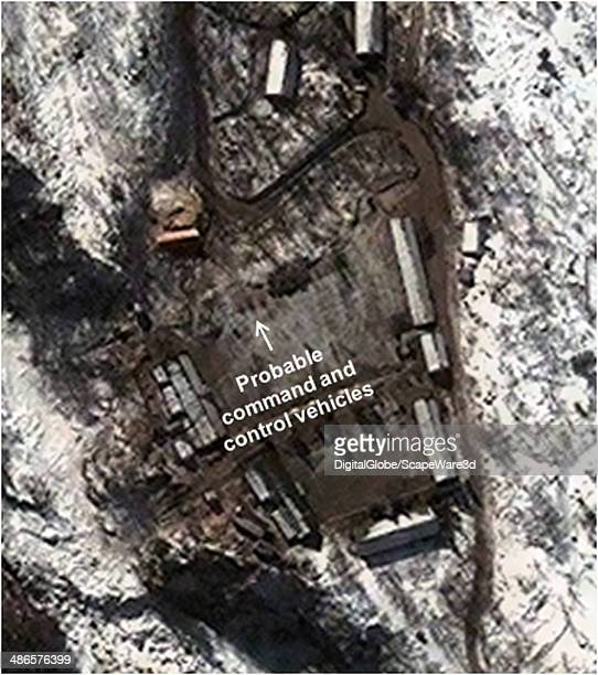 Figure 3 is DigitalGlobe Imagery from January 28th 2013 showing the command and communications vehicles seen prior to the February 2013 nuclear test...