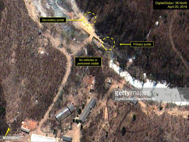 KOREA APRIL 20 2018 Figure 3 No vehicles of personnel visible at the South Portal