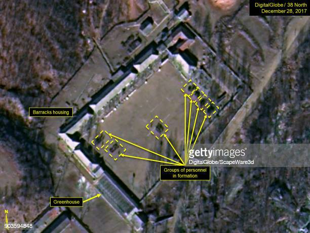 KOREA DECEMBER 28 2017 Figure 3 On December 28 large numbers of personnel are observed at the Southern Support Area located south of the Command...
