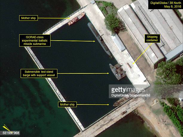 Figure 3 Two mother ships present Date May 8 2016 This image is from the Sinpo South Shipyard and was featured in the article Camouflage Netting...