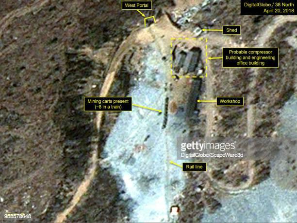 KOREA APRIL 20 2018 Figure 3A Mining carts lined up at the West Portal