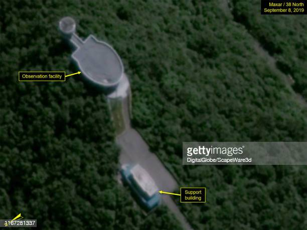 Figure 3B. No vehicles at the VIP Observation Facility. Mandatory credit for all images: Maxar/38 North via Getty Images