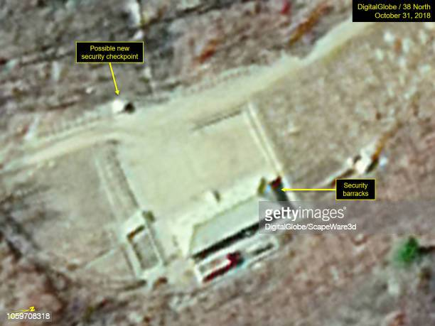 KOREA OCTOBER 31 2018 Figure 3b Unidentified material removed but a small shed erected