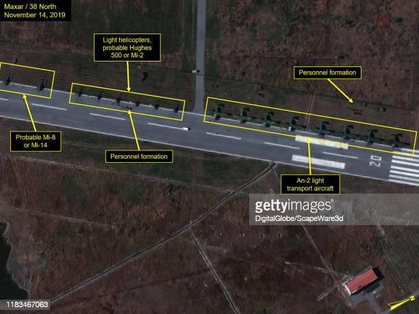 Figure 3C Various aircraft and personnel visible at Wonsan airfield Please use Satellite image 2019 Maxar Technologies