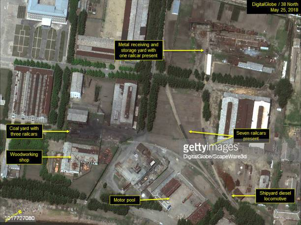 Figure 4A Activity at the northern support area of the shipyard Mandatory credit for all images DigitalGlobe/38 North via Getty Images