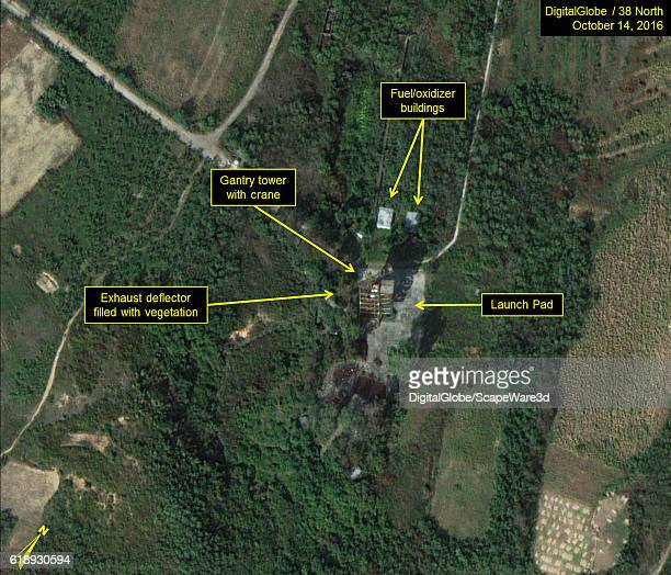 Figure 4a Natural color image of existing launch pad Credit DigitalGlobe/38 North