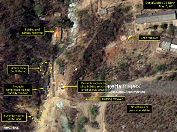 KOREA MAY 7 2018 Figure 4B While the South Portal has never been used support buildings around the primary and secondary portals have been removed