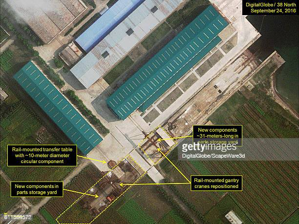 Figure 5 A DigitalGlobe closeup view of a large circular component seen at storage yard at Sinpo's South Shipyard Imagery Photodate September 24 2016...
