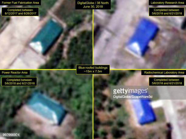 Figure 5 Blueroofed buildings are now located in four operationally distinct areas at Yongbyon Credit DigitalGlobe/38 North via Getty Images