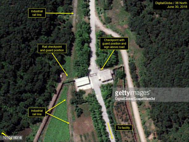 Figure 5 Example of inner security checkpoints at Yongbyons key facilities Credit DigitalGlobe/38 North via Getty Images