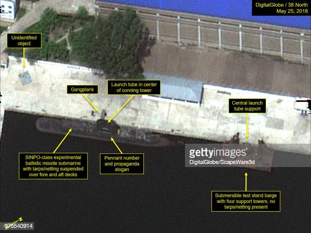 Figure 5 Sinpo South Shipyard's secure boat basin Mandatory credit for all images DigitalGlobe/38 North via Getty Images