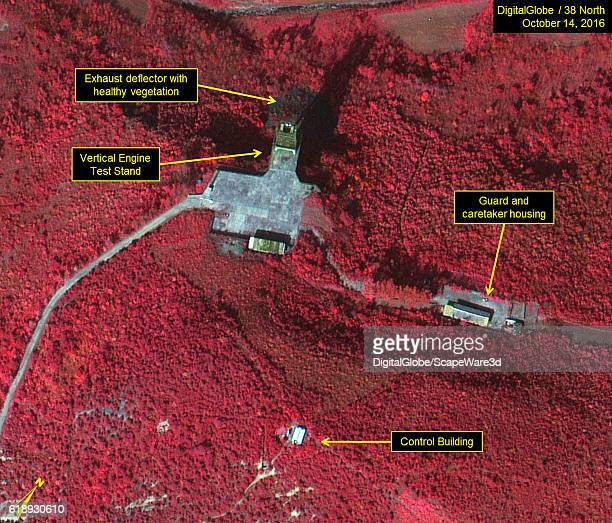 Figure 5b Color infrared image of existing vertical engine test stand Credit DigitalGlobe/38 North
