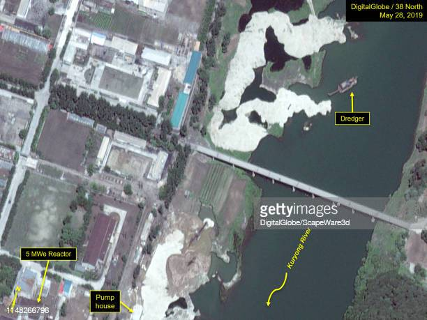 Figure 5B. Dredger observed upstream in Kuryong River. Credit: Maxar/38 North via Getty Images