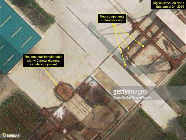 Figure 6 A DigitalGlobe closeup view of new components seen at the storage yard at Sinpo's South Shipyard Imagery Photodate September 24 2016...