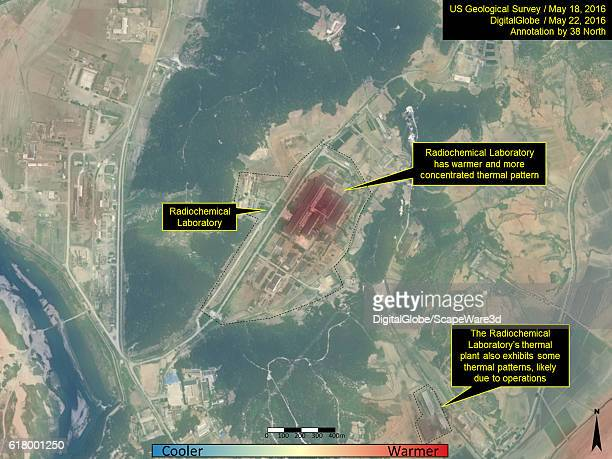 Figure 6 Closeup view of Radiochemical Laboratory with semitransparent overlay of May 18 2016 thermal imagery on top of May 22 2016 naturalcolor high...