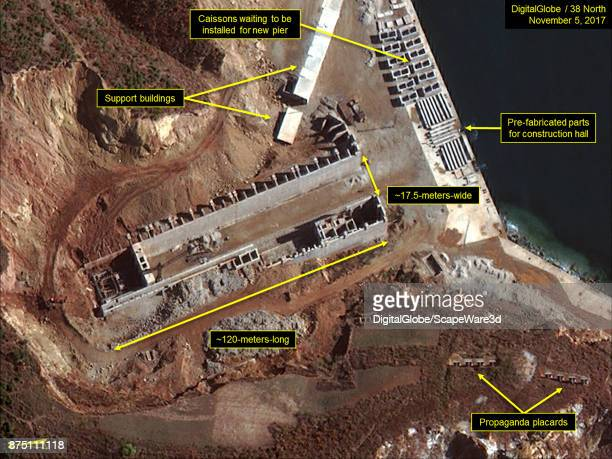 Figure 6 Construction of new construction hall continues at slow pace Mandatory credit for all images DigitalGlobe/38 North via Getty Images