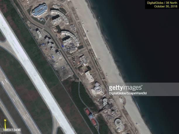Figure 6A Closeups of progress made after Kim Jong Uns site visit in October Credit DigitalGlobe/38 North via Getty Images