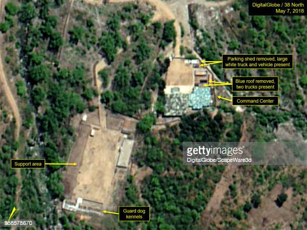 KOREA MAY 7 2018 Figure 6B Some structures at the Command Center have been taken down