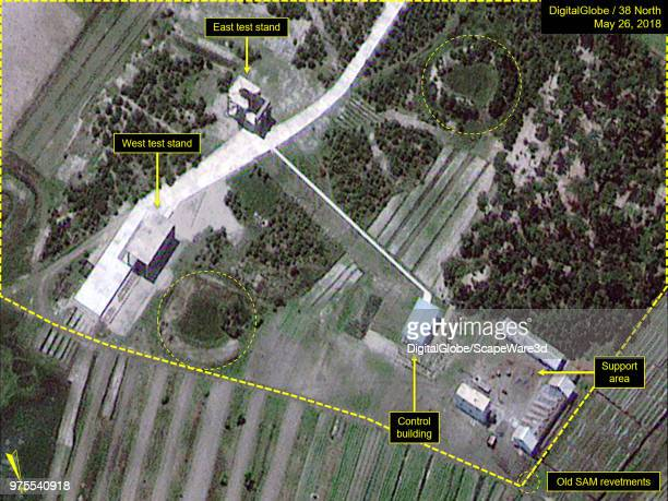 Figure 7 Test stands at Magunpo Solid Rocket Motor Test Facility Mandatory credit for all images DigitalGlobe/38 North via Getty Images
