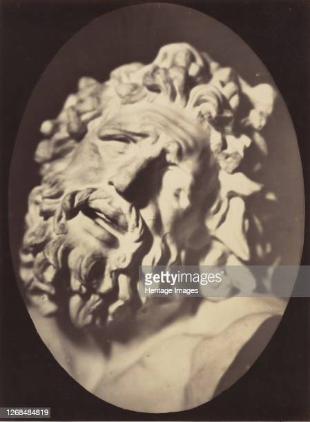 Head of the Laocoön of Rome 185456 printed 1862 Artist Duchenne de Boulogne Adrien Alban Tournachon