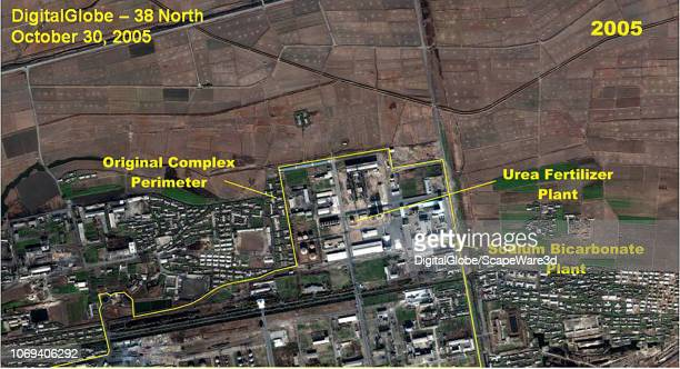 Figure 71 A comparison of the Namhung Youth Chemical Complex northern section showing the construction of the Anthracite Gasification Plant Credit...
