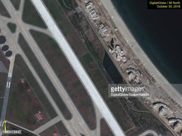 Figure 7A Closeups of progress made after Kim Jong Uns site visit in October Credit DigitalGlobe/38 North via Getty Images