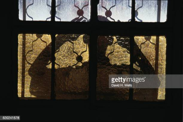 figure at window at abdel-hadi palace - palestinian stock pictures, royalty-free photos & images