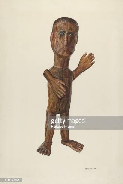 Figure, circa 1938. Artist Stanley Mazur.