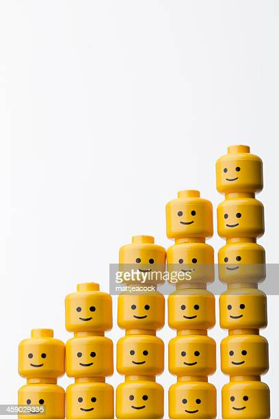lego figure heads - repetitie stockfoto's en -beelden